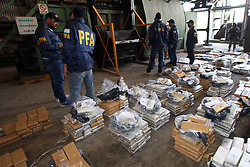 November 14, 2016 - Campana, Buenos Aires, Argentina - The federal police incinerated 2.6 tons of marijuana in a special complex of the city of Campana. The Secretary of Security of the Nation, Eugenio Burzaco, and the Chief of the federal police, Nestor Roncaglia, participated in the burning of drugs. (Credit Image: © Claudio Santisteban via ZUMA Wire)