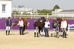 Trabert, Angelika;<br /> Baker, Natasha;<br /> Näpel, Britta, Aquilina<br /> London Paralympics 2012<br /> Grade II Freestyle<br /> © www.sportfotos-lafrentz.de/ Stefan Lafrentz