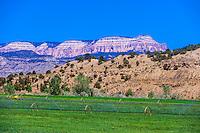 Agricultural irrigation, Tropic, Utah USA