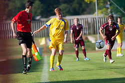 Pozeg Rudi of NK Domzale during football match between NK Triglav Kranj and NK Domzale, 5th Round of Prva Liga, on 12 August, 2012, in Sportni center, Kranj, Slovenia. (Photo by Grega Valancic / Sportida)