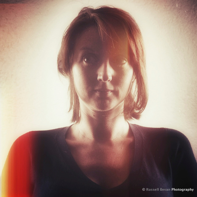 A stylised portrait with an old film treatment.