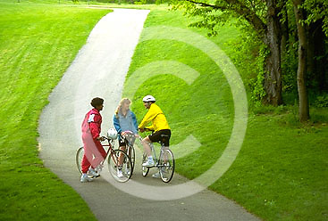 Outdoor recreation, Biking in PA Young Adult Female African American Biker, York Co., PA, Park