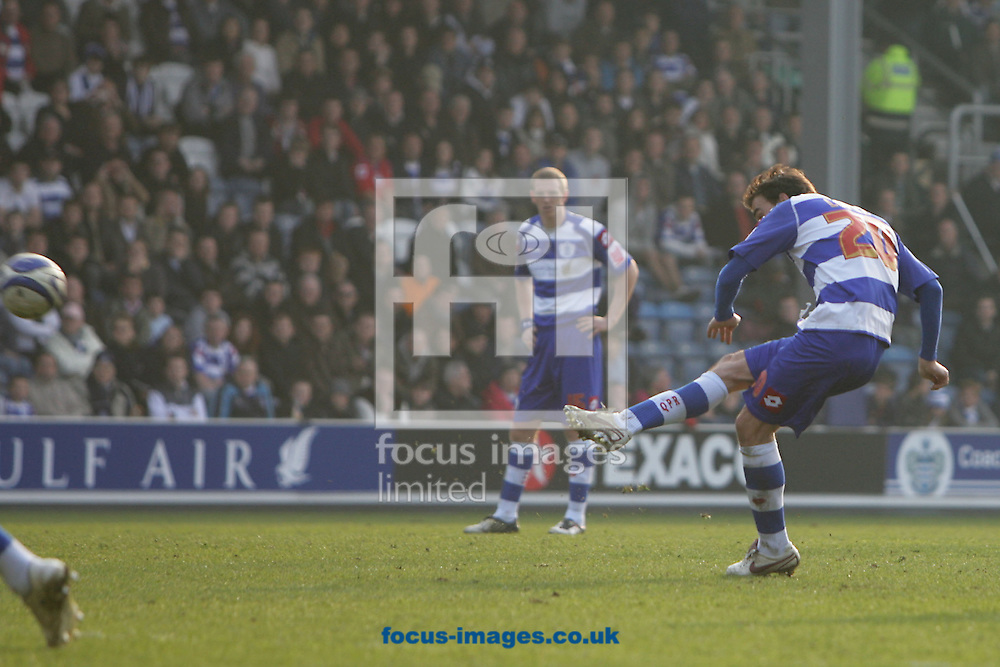 London - Saturday March 21st, 2009: Jordi Lopez of QPR scores his side's first goal during the Coca Cola Championship match at Loftus Road, London. (Pic by Mark Chapman/Focus Images)