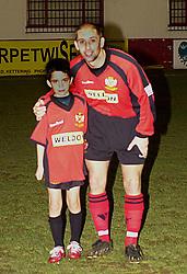 MARTIN MATTHEWS WITH MASCOT,   Kettering Town v Altrincham FA Trophy Rockingham Road, 14th January 2003