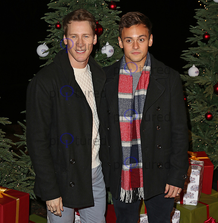 Dustin Lance Black & Tom Daley, Winter Wonderland - VIP Launch, Hyde Park, London UK, 19 November 2015, Photo by Brett D. Cove