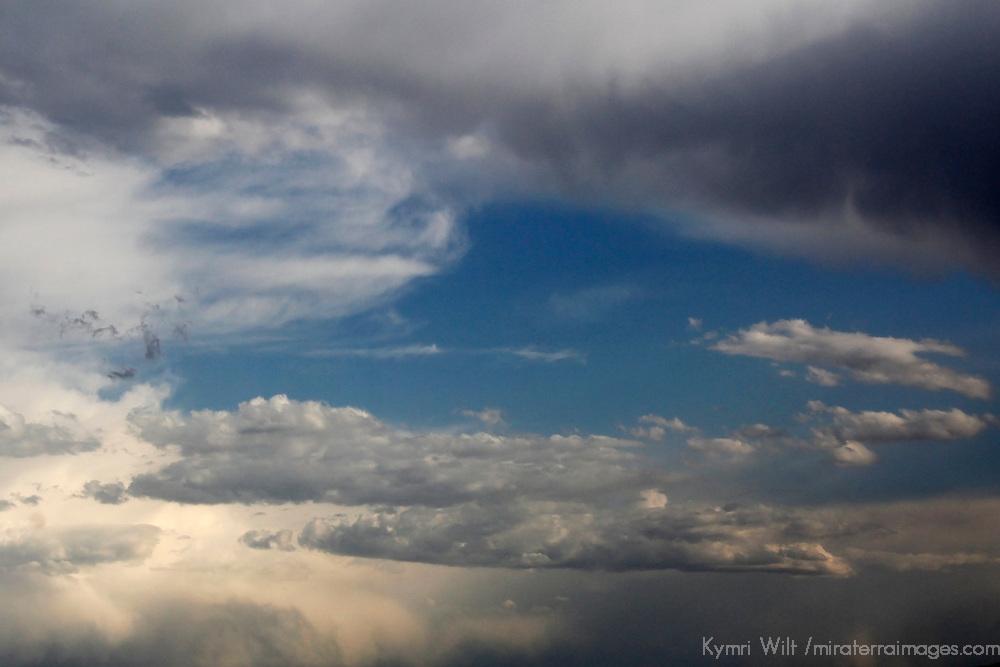 USA, Colorado, Denver. Cloudscape over Denver.