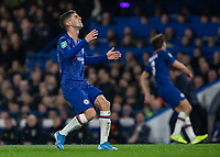 Football - 2019 / 2020 EFL Carabao (League) Cup - Fourth Round: Chelsea vs. Manchester United<br /> <br /> Christian Pulisic (Chelsea FC) frustrated as he is called back for offside at Stamford Bridge <br /> <br /> COLORSPORT/DANIEL BEARHAM