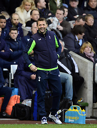 Tottenham Hotspur Manager, Tim Sherwood is all smiles - Photo mandatory by-line: Joe Meredith/JMP - Tel: Mobile: 07966 386802 19/01/2014 - SPORT - FOOTBALL - Liberty Stadium - Swansea - Swansea City v Tottenham Hotspur - Barclays Premier League