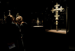 Cologne, Germany, Jan. 2012 - PICTURED: Processional Cross , Cologne, ca.1400 silver, gilt Monstrance, Cologne ca. 1400 AD...Its hard to say what makes more impact: the Kolumba museums vertiginous mix of ancient religious and modern secular artworks, or its astounding, vintage-2007 building from the Pritzker-winning Swiss architect Peter Zumthor. Shift your gaze from an oversize, late-12th-century carved ivory crucifix to a neighboring untitled sculpture by the great Joseph Beuys, then take in the spires of the Cologne Dom cathedral, artfully framed in a nearby floor-to-ceiling window (Kolumbastrasse 4; 49-221-933-193-32; kolumba.de). (Photo © Jock Fistick)