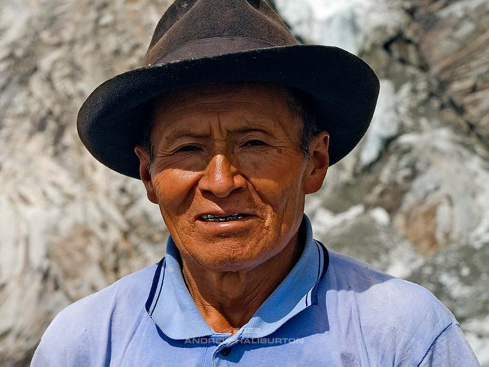 Señor Manuel at Chopicalqui Morraine Camp 5,000m