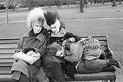 Punk Girls in Park, London, 1980s.
