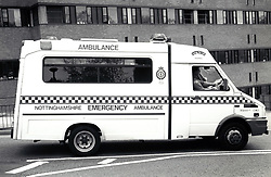 Ambulance, University Hospital, Nottingham UK 1995