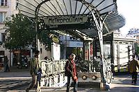 Decorative entrance to Metro station, Paris, France<br />