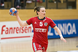 16.03.2017, Josef Welser Sporthalle Tulln, Tulln an der Donau, AUT, Handball Testspiel, Österreich vs Tschechische Republik, im Bild Sonja Frey (AUT) // during a women' s international friendly handball match between Austria and Czech Republic at the Josef Welser Sporthalle Tulln, Tulln an der Donau, Austria on 2017/03/16, EXPA Pictures © 2017, PhotoCredit: EXPA/ Sebastian Pucher