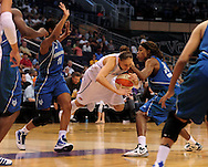 June 10, 2010; Phoenix, AZ, USA; Phoenix Mercury guard Diana Taurasi falls during the second half in at US Airways Center.  The Mercury defeated the Lynx 99-88.  Mandatory Credit: Jennifer Stewart-US PRESSWIRE