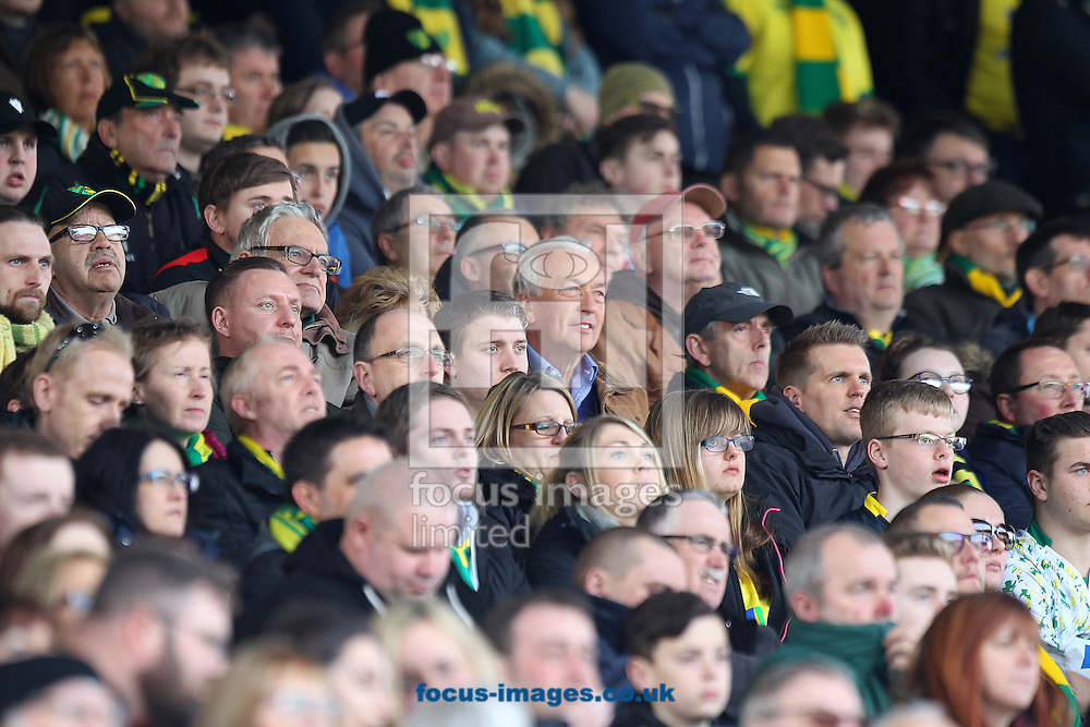 The traveling Norwich fans during the Sky Bet Championship match at Hillsborough, Sheffield<br /> Picture by Paul Chesterton/Focus Images Ltd +44 7904 640267<br /> 04/03/2017