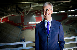 Dr. Jernej Pikalo, Slovenian Minister of Education, Science, Culture and Sport at Media day during reconstruction of Arena Podmezakla for Eurobasket 2013,  on June 18, 2013 in Jesenice, Slovenia. (Photo By Vid Ponikvar / Sportida)