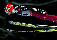 Richard Freitag of Germany competes during FIS World Cup Ski Jumping in Wisla...Poland, Wisla, January 09, 2013...Picture also available in RAW (NEF) or TIFF format on special request...For editorial use only. Any commercial or promotional use requires permission...Photo by © Adam Nurkiewicz / Mediasport