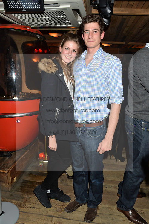 ALI BOLITHO and her brother TOM BOLITHO at a party in honour of the Walking With The Wounded team members held at Bodo's Schloss, 2A Kensington High Street, London on 13th November 2013.