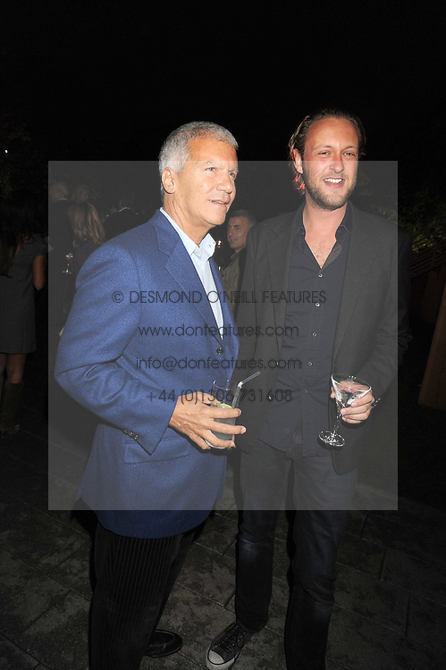 Left to right, LARRY GAGOSIAN and LORD EDWARD SPENCER-CHURCHILL at the annual Serpentine Gallery Summer Party in Kensington Gardens, London on 9th September 2008.