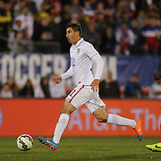 Alejandro Bedoya, USA, in action during the USA Vs Ecuador International match at Rentschler Field, Hartford, Connecticut. USA. 10th October 2014. Photo Tim Clayton