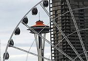 The Seattle Great Wheel located at the end of Pier 57.<br />