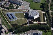 Luchtfoto nieuwbouw WaterCampus Leeuwarden