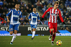 December 22, 2017 - Barcelona, Spain - Antoine Griezmann and Leo Baptistao during the La Liga match between RCD Espanyol and Atletico de Madrid, in Barcelona, on December 22, 2017. Photo: Joan Valls/Urbanandsport/Nurphoto  (Credit Image: © Joan Valls/NurPhoto via ZUMA Press)