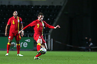 Pictured: Joe Allen of Wales. Wednesday 06 February 2013..Re: Vauxhall International Friendly, Wales v Austria at the Liberty Stadium, Swansea, south Wales.