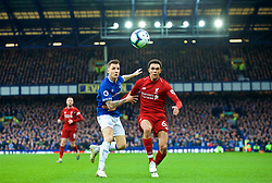 LIVERPOOL, ENGLAND - Sunday, March 3, 2019: Liverpool's Trent Alexander-Arnold (R) and Everton's Lucas Digne during the FA Premier League match between Everton FC and Liverpool FC, the 233rd Merseyside Derby, at Goodison Park. (Pic by Paul Greenwood/Propaganda)