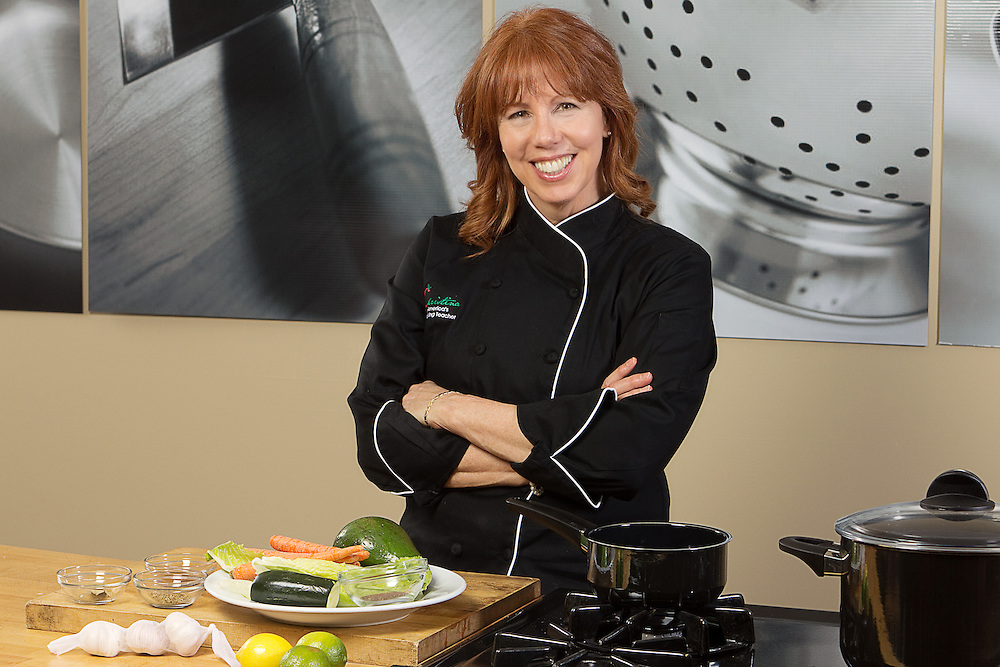 Christina Pirello poses for a photo to promote her forthcoming PBS cooking program.