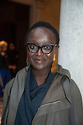 British artist Lynette Yiadom-Boakye, preview of Pinchuk Foundation's Future Generation Art Prize,     Palazzo Contarini PolignacVenice. Venice Bienalle. Thursday 30 May).