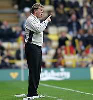 Photo: Lee Earle.<br /> Watford v Wolverhampton Wanderers. Coca Cola Championship. 29/10/2005. Wolves boss Glenn Hoddle.