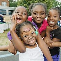 Children, Cody Rouge block party, Detroit, digital color print