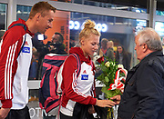 Warsaw, Poland - 2017 October 03: Welcome of Polish Rowing National Team at Chopin Airport on October 03, 2017 in Warsaw, Poland.<br /> <br /> Mandatory credit:<br /> Photo by &copy; Adam Nurkiewicz / Mediasport<br /> <br /> Adam Nurkiewicz declares that he has no rights to the image of people at the photographs of his authorship.<br /> <br /> Picture also available in RAW (NEF) or TIFF format on special request.<br /> <br /> Any editorial, commercial or promotional use requires written permission from the author of image.