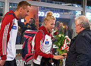 Warsaw, Poland - 2017 October 03: Welcome of Polish Rowing National Team at Chopin Airport on October 03, 2017 in Warsaw, Poland.<br /> <br /> Mandatory credit:<br /> Photo by © Adam Nurkiewicz / Mediasport<br /> <br /> Adam Nurkiewicz declares that he has no rights to the image of people at the photographs of his authorship.<br /> <br /> Picture also available in RAW (NEF) or TIFF format on special request.<br /> <br /> Any editorial, commercial or promotional use requires written permission from the author of image.