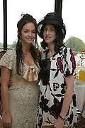 Calypso Lawrence and Mrs. Patrick Lawrence. Glorious Goodwood. 2 August 2007.  -DO NOT ARCHIVE-© Copyright Photograph by Dafydd Jones. 248 Clapham Rd. London SW9 0PZ. Tel 0207 820 0771. www.dafjones.com.