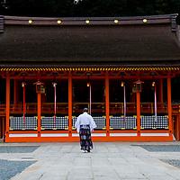 Fushimi Inari-taisha Shrine in Kyoto Japan This shrine, dedicated to the god of rice and sake