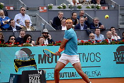 May 8, 2019 - Madrid, Spain - Rafa Nadal (SPA) in his match against Felix Auger-Aliassime (CAN) during day five of the Mutua Madrid Open at La Caja Magica in Madrid on 8th May, 2019. (Credit Image: © Juan Carlos Lucas/NurPhoto via ZUMA Press)