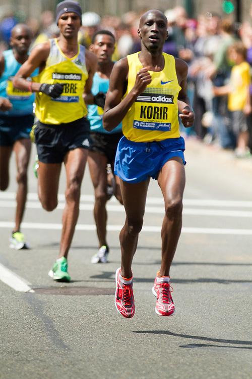 2013 Boston Marathon: Wesley Korir leads
