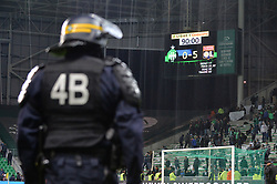 November 6, 2017 - Saint Etienne, France - ILLUSTRATION - POLICE - SECURITE - CRS - ECRAN GEANT - SCORE (Credit Image: © Panoramic via ZUMA Press)
