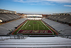 November 20, 2010; Chestnut Hill, MA, USA;  General view of Alumni Stadium before the game between the Boston College Eagles and the Virginia Cavaliers.