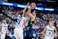 Petteri Koponen of Finland vs Goran Dragic of Slovenia during basketball match between National Teams of Finland and Slovenia at Day 3 of the FIBA EuroBasket 2017 at Hartwall Arena in Helsinki, Finland on September 2, 2017. Photo by Vid Ponikvar / Sportida