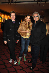 Left to right, SIMON & YASMIN LE BON and FLAVIO BRIATORE at a party to celebrate the first year if ING's sponsorship of the Renault Formula 1 team, held at the Mayfair Hotel, Stratton Street, London W1 on 28th November 2007.<br /><br />NON EXCLUSIVE - WORLD RIGHTS