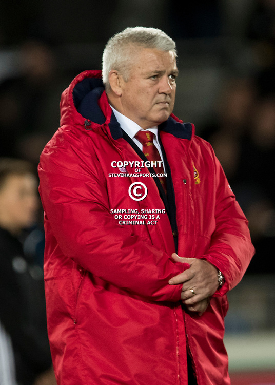 Warren Gatland during game 7 of the British and Irish Lions 2017 Tour of New Zealand, the first Test match between  The All Blacks and British and Irish Lions, Eden Park, Auckland, Saturday 24th June 2017<br /> (Photo by Kevin Booth Steve Haag Sports)<br /> <br /> Images for social media must have consent from Steve Haag