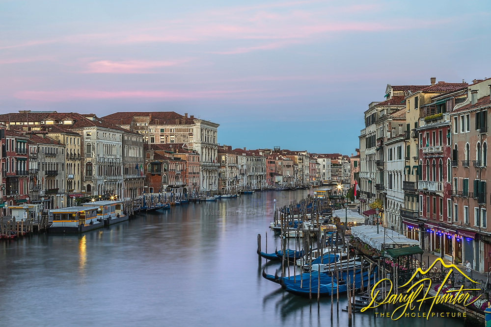 Venetian Sunrise, long before the city awakes, a peaceful serenity covers the city like a warm blanket.