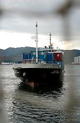 SOUTH KOREA MASAN 26OCT07 - Container ship Golden Voyage docks at Masan port, south Korea...jre/Photo by Jiri Rezac..© Jiri Rezac 2007..Contact: +44 (0) 7050 110 417.Mobile:  +44 (0) 7801 337 683.Office:  +44 (0) 20 8968 9635..Email:   jiri@jirirezac.com.Web:    www.jirirezac.com..© All images Jiri Rezac 2007 - All rights reserved.