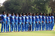 Indian players stand for the national before the start of the second women's one day International ( ODI ) match between India and Australia held at the Reliance Cricket Stadium in Vadodara, India on the 15th March 2018<br /> <br /> Photo by Vipin Pawar / BCCI / SPORTZPICS