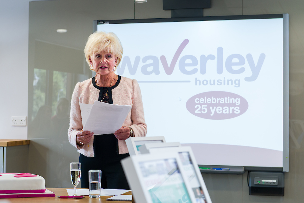 Waverley Housing Association 25th anniversary day, held at the new headquarters , in Hawick. The AGM, that took place in the evening, was held at the Burnfoot Community Centre.