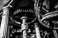 Summer 2015. La Fosse Belgium. Gears of La Fosse Mill during our international work-camp.